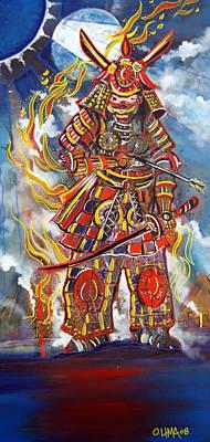 Live Samurai Poster by Ottoniel Lima