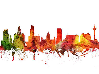 Liverpool Cityscape 04 Poster by Aged Pixel