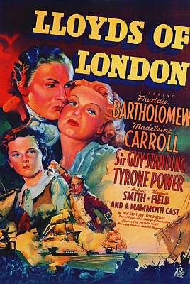 Lloyds Of London 1936 Poster by Mountain Dreams