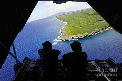 Loadmasters Look Out Over Tumon Bay Poster by Stocktrek Images