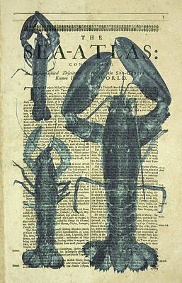 Lobster Sea Atlas Poster by Erin Cadigan