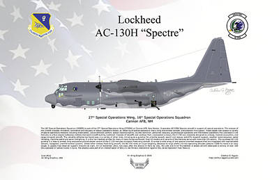 Lockheed Ac-130h Spectre Poster by Arthur Eggers