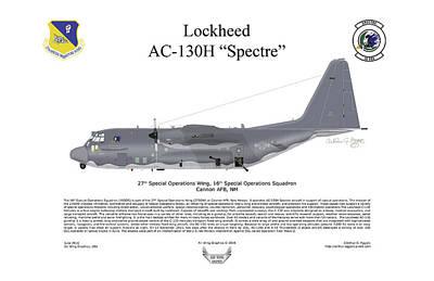 Lockheed Av-130h Spectre Poster by Arthur Eggers