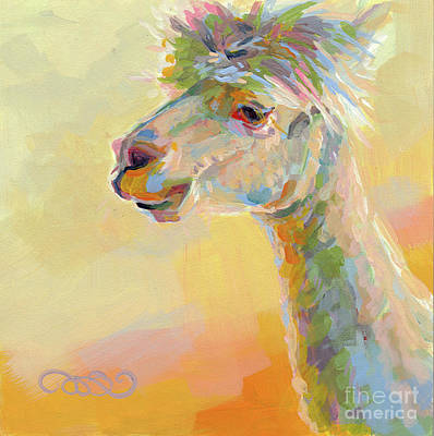 Lolly Llama Poster by Kimberly Santini