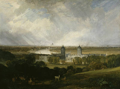 London From Greenwich Park Poster by Joseph Mallord William Turner