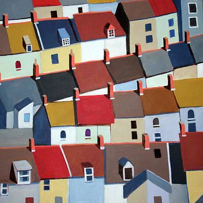 London Terraced Buildings Poster by Toni Silber-Delerive