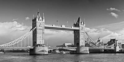 London Tower Bridge Monochrome Poster by Melanie Viola