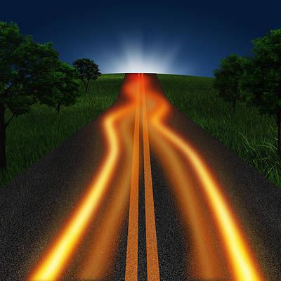Long Road In Twilight Poster by Setsiri Silapasuwanchai