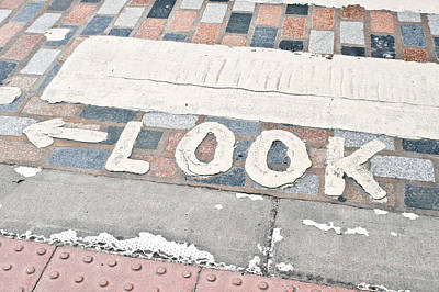 Look Sign Poster by Tom Gowanlock