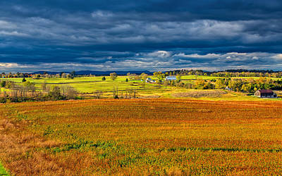 Looking Back At Antietam Poster by John M Bailey