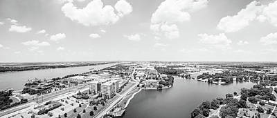Looking North From The State Capitol Baton Rouge Panoramic  Poster by Scott Pellegrin