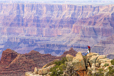 Looking Out From Lipan Point 2 Poster by Jessica Velasco