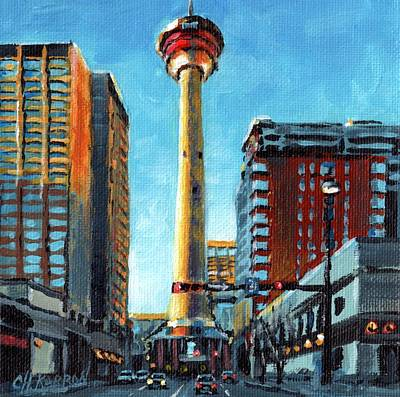 Looking Up - Calgary Tower Poster by Christine Karron