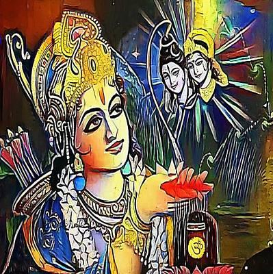 Lord Rama - My Www Vikinek-art.com Poster by Viktor Lebeda