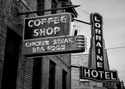 Lorraine Hotel Coffee Shop #3 Poster by Stephen Stookey