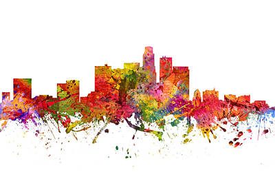 Los Angeles Cityscape 08 Poster by Aged Pixel