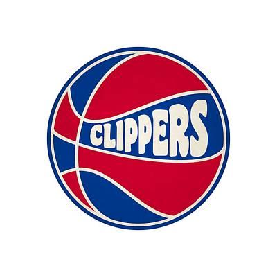 Los Angeles Clippers Retro Shirt Poster by Joe Hamilton
