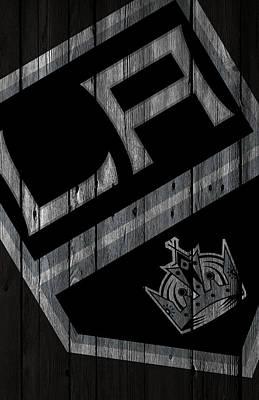 Los Angeles Kings Wood Fence Poster by Joe Hamilton