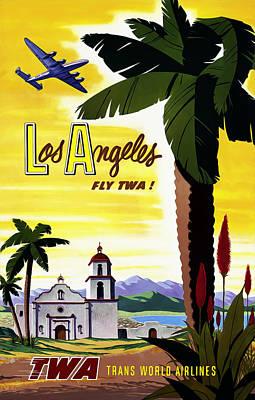 Los Angeles Twa Poster by Mark Rogan