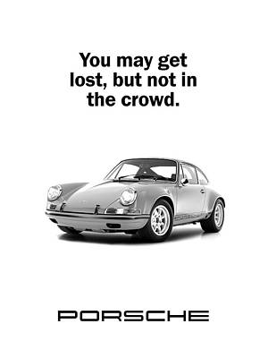 Lost In A Porsche Poster by Mark Rogan