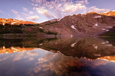 Lost Lake Sunrise Poster by Jennifer Grover
