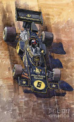 Lotus 72 Canadian Gp 1972 Emerson Fittipaldi  Poster by Yuriy  Shevchuk
