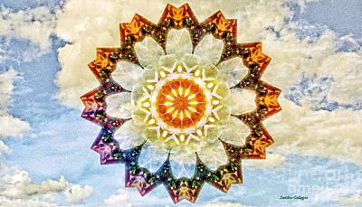 Lotus In The Sky Mandala Poster by Sandra Gallegos