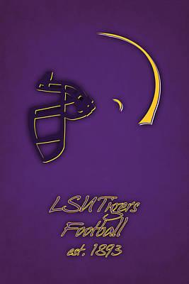 Louisiana State Tigers Helmet Poster by Joe Hamilton