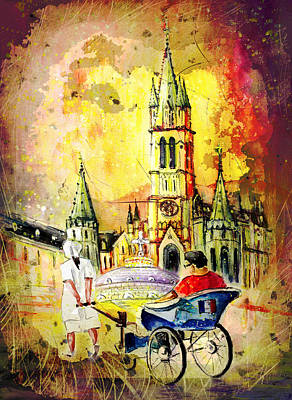 Lourdes Authentic Madness Poster by Miki De Goodaboom