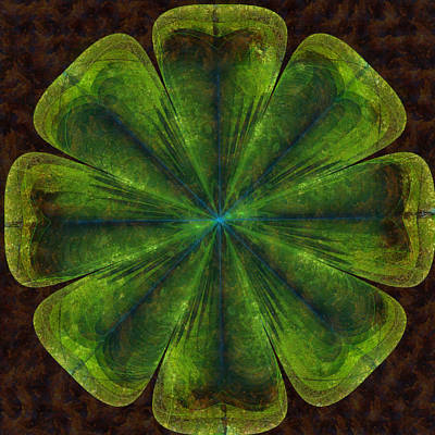 Lovably Threadbare Flower  Id 16164-005322-17090 Poster by S Lurk