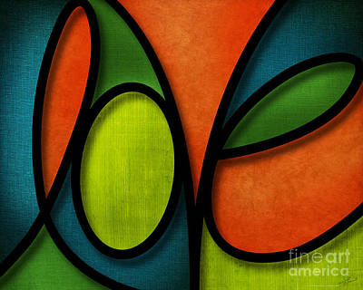 Love - Abstract Poster by Shevon Johnson