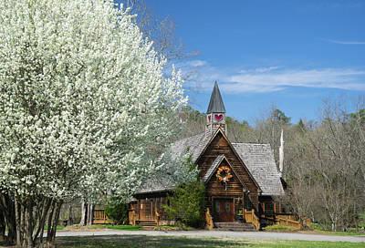 Love Chapel In Spring 3 Poster by Douglas Barnett