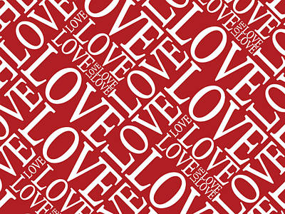 Love In Red Poster by Michael Tompsett