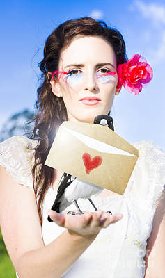 Love Note Delivery From The Heart Poster by Jorgo Photography - Wall Art Gallery