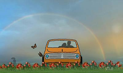 Love Under The Rainbow Poster by David Zinkand