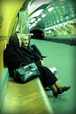 Lovely Ladies At Paris Metro Poster by Daniel Gomez