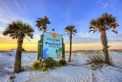 Loving Pensacola Beach Poster by JC Findley