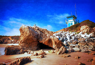 Low Tide At Leo Carillo Poster by Lynn Bauer