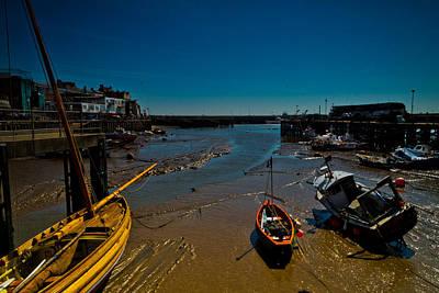 Low Tide In Bridlington Harbour. Poster by Cliff Miller