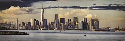 Lower Manhattan Panorama Poster by Eduard Moldoveanu