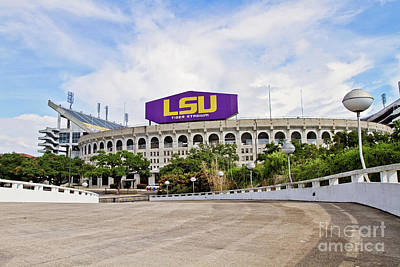 Lsu Tiger Stadium Poster by Scott Pellegrin