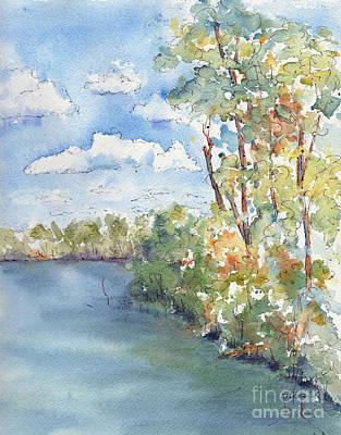 Lucien Lake Shoreline Poster by Pat Katz