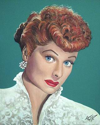 Lucille Ball Poster by Tom Carlton