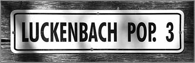 Luckenbach Poster by Stephen Stookey