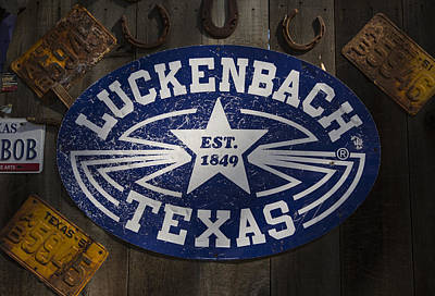 Luckenbach Texas Poster by Stephen Stookey