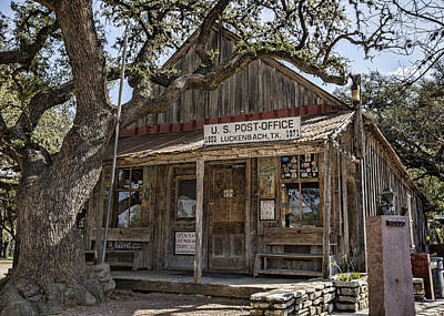 Luckenbach Tx General Store Poster by Stephen Stookey