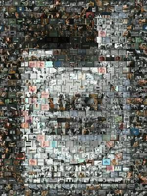 Lucky Strike Cigarette Ad Mosaic Poster by Paul Van Scott
