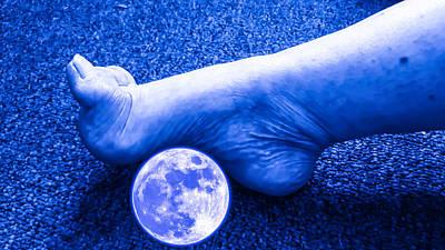 Lunar Foot Massage Poster by Ron Fleishman