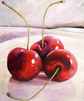 Luscious Cherries Poster by Toni Grote
