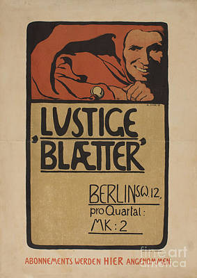 Lustige Blaetter Poster by MotionAge Designs